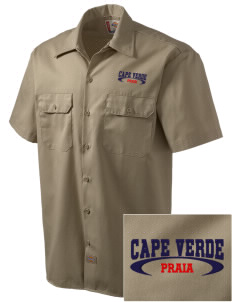 Cape Verde Embroidered Dickies Men's Short-Sleeve Workshirt