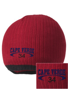 Cape Verde Embroidered Champion Striped Knit Beanie