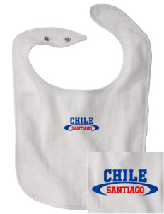Chile Embroidered Baby Snap Terry Bib