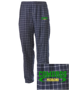 Comoros Embroidered Men's Button-Fly Collegiate Flannel Pant