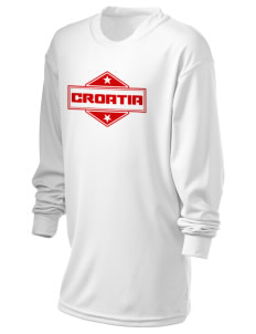 Croatia Holloway Kid's Performance Spark Long Sleeve T-Shirt
