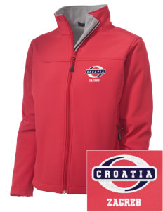 Croatia Embroidered Women's Soft Shell Jacket
