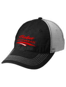 Cuba Embroidered Mesh Back Cap