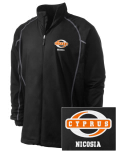 Cyprus Embroidered Men's Nike Golf Full Zip Wind Jacket