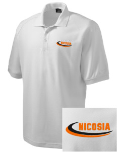 Cyprus Embroidered Nike Men's Pique Knit Golf Polo