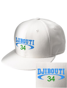 Djibouti  Embroidered New Era Flat Bill Snapback Cap