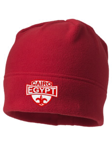 Egypt Embroidered Fleece Beanie