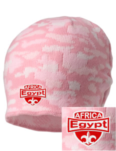 Egypt Embroidered Camo Beanie