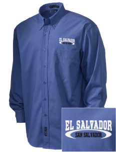 El Salvador  Embroidered Men's Easy Care, Soil Resistant Shirt