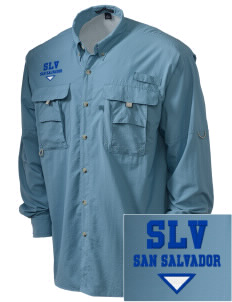 El Salvador Embroidered Men's Explorer Shirt with Pockets