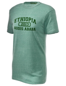 Ethiopia Embroidered Alternative Unisex Eco Heather T-Shirt