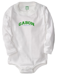 Gabon  Baby Long Sleeve 1-Piece with Shoulder Snaps