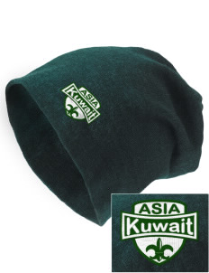 Kuwait Embroidered Slouch Beanie