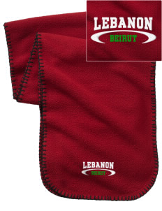 Lebanon Embroidered Fleece Scarf