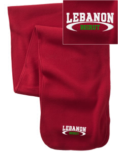 Lebanon  Embroidered Extra Long Fleece Scarf