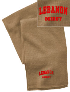 Lebanon  Embroidered Knitted Scarf