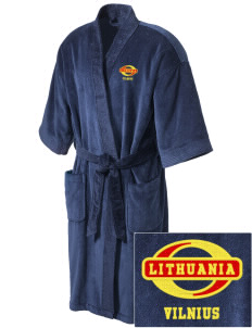 Lithuania Embroidered Terry Velour Robe