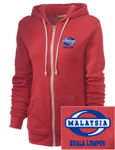 Malaysia Embroidered Alternative Unisex The Rocky Eco-Fleece Hooded Sweatshirt