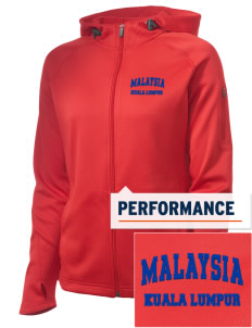 Malaysia Embroidered Women's Tech Fleece Full-Zip Hooded Jacket