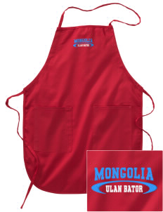 Mongolia Embroidered Full Length Apron