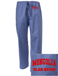 Mongolia Embroidered Scrub Pants