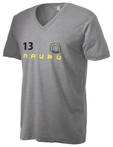 Nauru Alternative Men's 3.7 oz Basic V-Neck T-Shirt