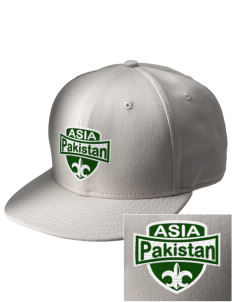 Pakistan  Embroidered New Era Flat Bill Snapback Cap