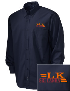 Sri Lanka  Embroidered Men's Easy Care, Soil Resistant Shirt