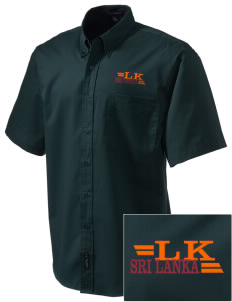 Sri Lanka Embroidered Men's Easy Care Shirt