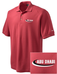 United Arab Emirates Embroidered Nike Men's Pique Knit Golf Polo