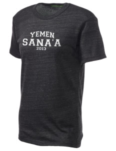 Yemen Embroidered Alternative Unisex Eco Heather T-Shirt