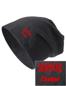 Denmark Embroidered Slouch Beanie
