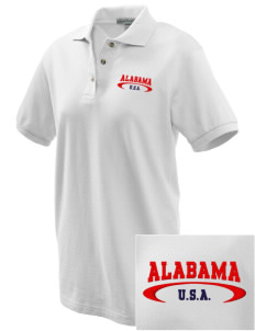 Alabama Embroidered Women's Pique Polo