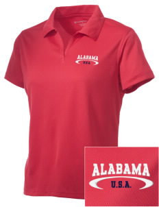 Alabama Embroidered Women's Double Mesh Polo