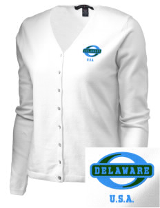 Delaware Embroidered Women's Stretch Cardigan Sweater