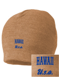 Hawaii Embroidered Beanie