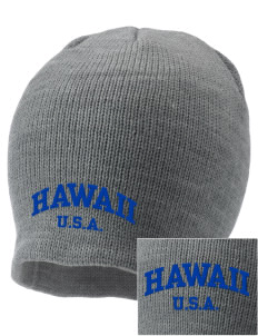 Hawaii Embroidered Knit Cap