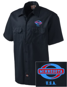 Minnesota Embroidered Dickies Men's Short-Sleeve Workshirt