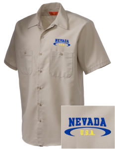 Nevada Embroidered Men's Cornerstone Industrial Short Sleeve Work Shirt