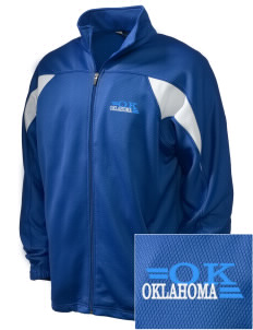 Oklahoma Embroidered Holloway Men's Full-Zip Track Jacket