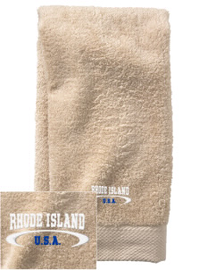 Rhode Island  Embroidered Zero Twist Resort Hand Towel