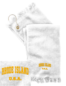 Rhode Island  Embroidered Grommeted Finger Tip Towel