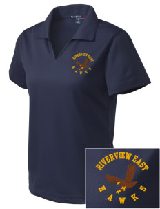 Riverview East Academy Hawks Embroidered Women's Dri Mesh Polo