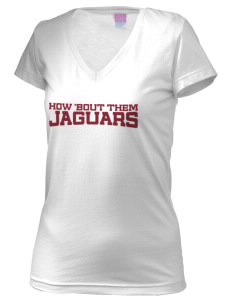 Seminole Heights Charter High School Jaguars Juniors' Fine Jersey V-Neck Longer Length T-shirt