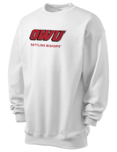 Ohio Wesleyan University Battling Bishops Men's 7.8 oz Lightweight Crewneck Sweatshirt