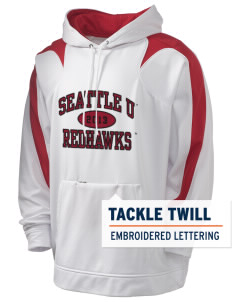 Seattle University Redhawks Holloway Men's Sports Fleece Hooded Sweatshirt with Tackle Twill