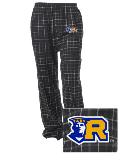 Rollins College Tars Embroidered Unisex Button-Fly Collegiate Flannel Pant