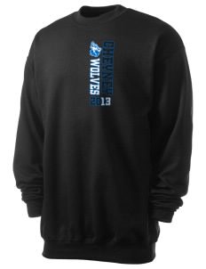 Cheyney University Wolves Men's 7.8 oz Lightweight Crewneck Sweatshirt