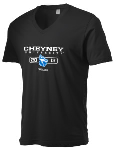 Cheyney University Wolves Alternative Men's 3.7 oz Basic V-Neck T-Shirt