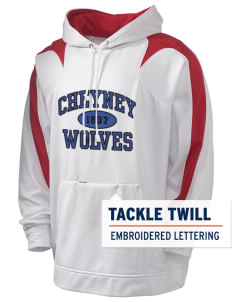 Cheyney University Wolves Holloway Men's Sports Fleece Hooded Sweatshirt with Tackle Twill